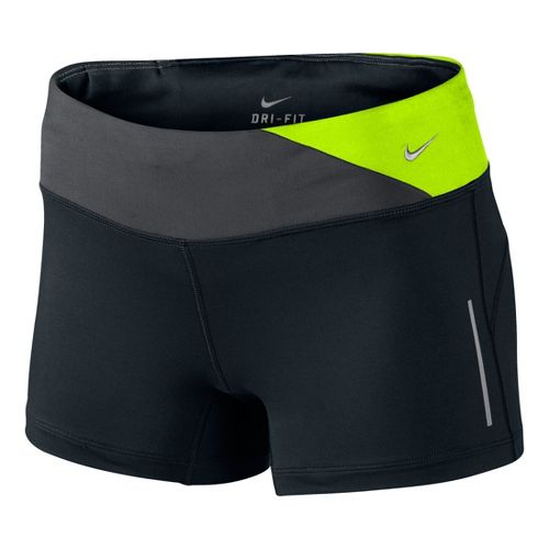 Womens Nike Epic Run Boy Fitted Shorts - Black/Electra XL