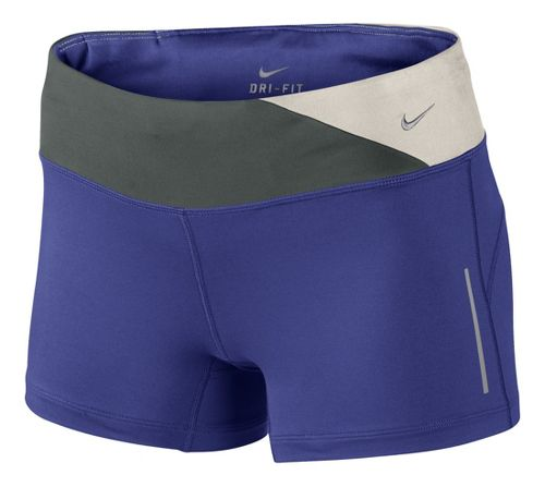 Womens Nike Epic Run Boy Fitted Shorts - Blue Night XL
