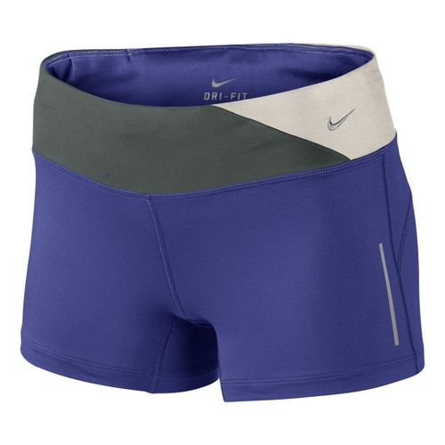 Womens Nike Epic Run Boy Fitted Shorts - Blue Night L