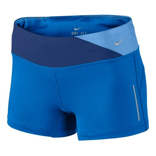 Womens Nike Epic Run Boy Fitted Shorts - Cobalt XL