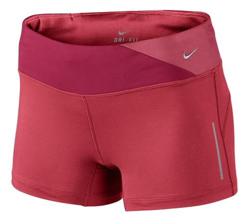 Womens Nike Epic Run Boy Fitted Shorts - Cherry/Chili Red L