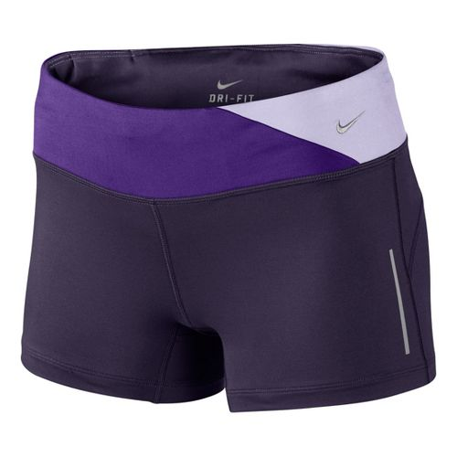 Womens Nike Epic Run Boy Fitted Shorts - Dark Purple XS