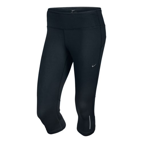 Womens Nike Epic Run Capri Tights - Black L