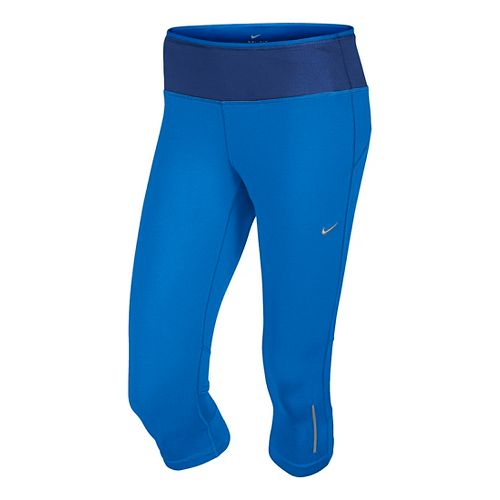 Womens Nike Epic Run Capri Tights - Cobalt S