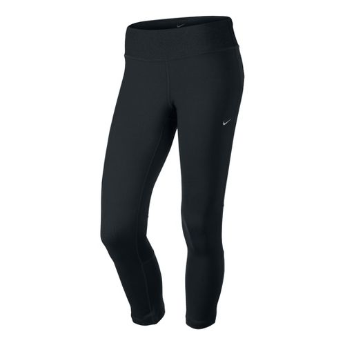 Womens Nike Epic Run Crop Capri Tights - Black XS