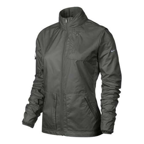 Womens Nike Explore Running Jackets - Mercury L