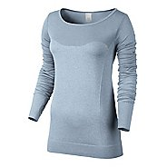 Womens Nike Dri-Fit Knit Epic Tee Long Sleeve No Zip Technical Tops