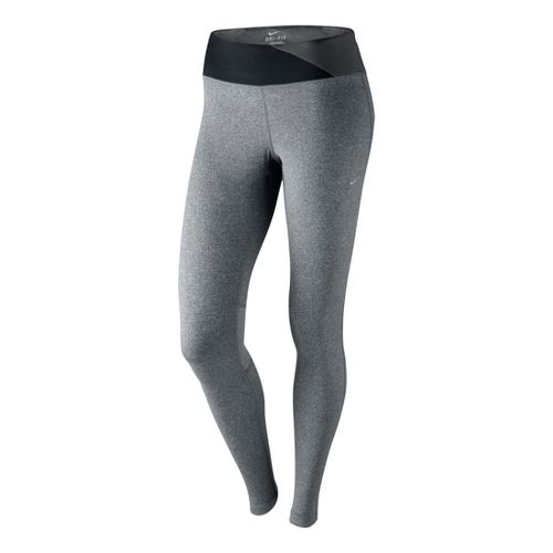 Womens Nike Epic Run Fitted Tights - Heather Grey XS