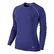 Womens Nike Feather Fleece Crew Long Sleeve No Zip Technical Tops