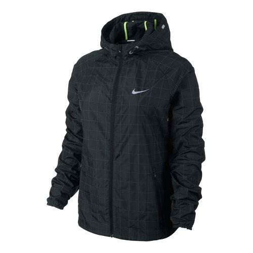 Womens Nike Flicker Distance Running Jackets - Black XS