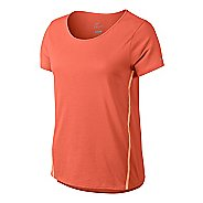 Womens Nike Tailwind Loose Short Sleeve Technical Tops