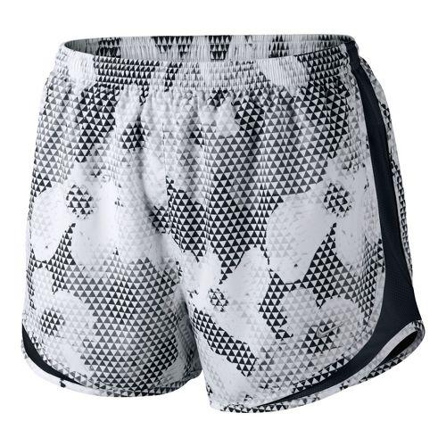 Womens Nike Printed Tempo Lined Shorts - White/Black L