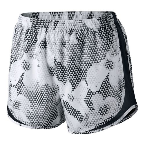 Womens Nike Printed Tempo Lined Shorts - White/Black XL