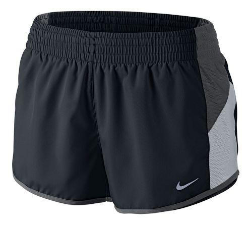 Womens Nike Racer Lined Shorts - Black/Dark Grey XL