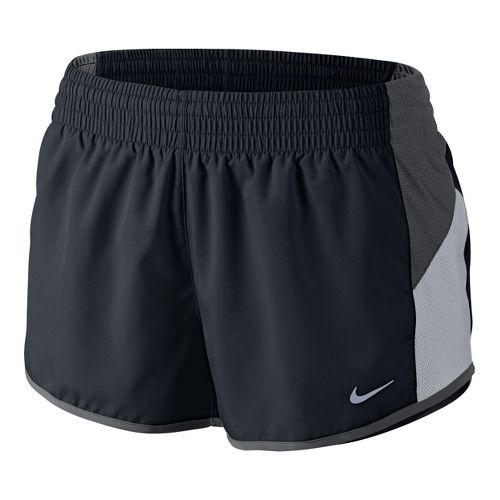 Womens Nike Racer Lined Shorts - Black/Dark Grey L