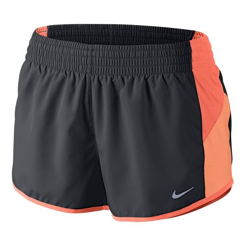 Womens Nike Racer Lined Shorts - Dark Grey/Orange Peel S