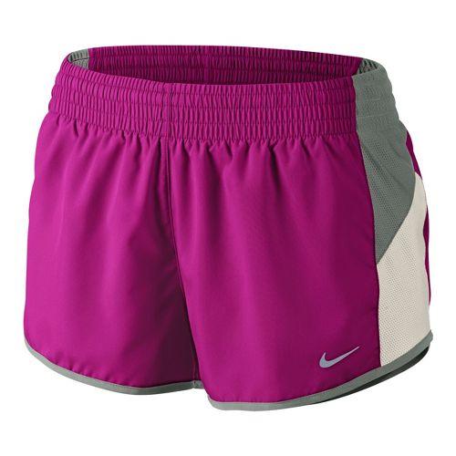 Womens Nike Racer Lined Shorts - Magenta/Grey M