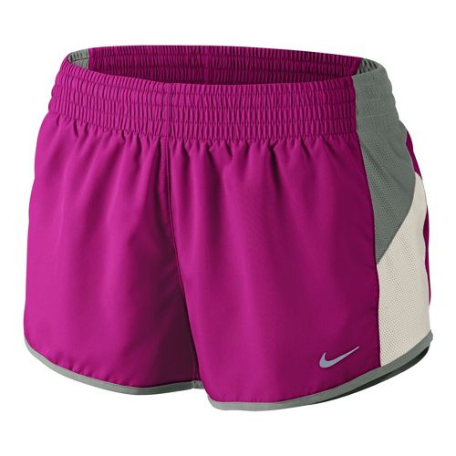 Womens Nike Racer Lined Shorts - Magenta/Grey XS