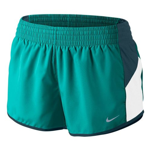 Womens Nike Racer Lined Shorts - Sea Green/White L
