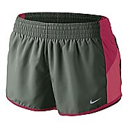 Womens Nike Racer Lined Shorts - Sage/Chili Red XL