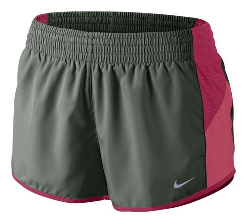 Womens Nike Racer Lined Shorts - Sage/Chili Red L