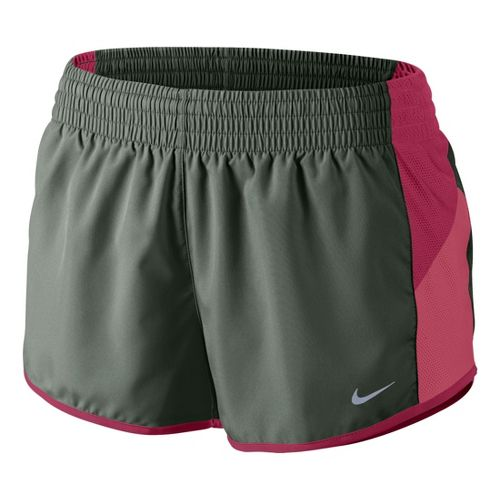 Womens Nike Racer Lined Shorts - Sage/Chili Red M