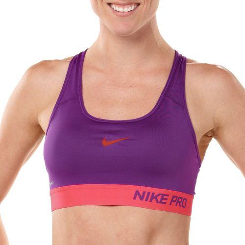 Womens Nike Pro Padded Sports Bra - Grape/Laser Red XS