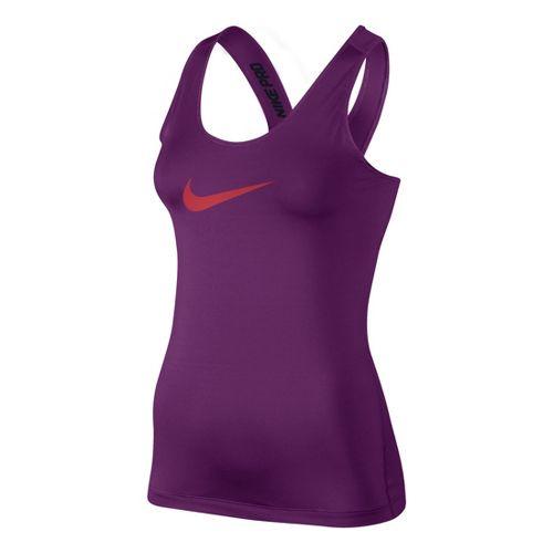 Womens Nike Pro Tank Technical Top - Grape M