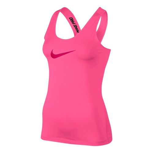 Womens Nike Pro Tank Technical Tops - Hot Pink M