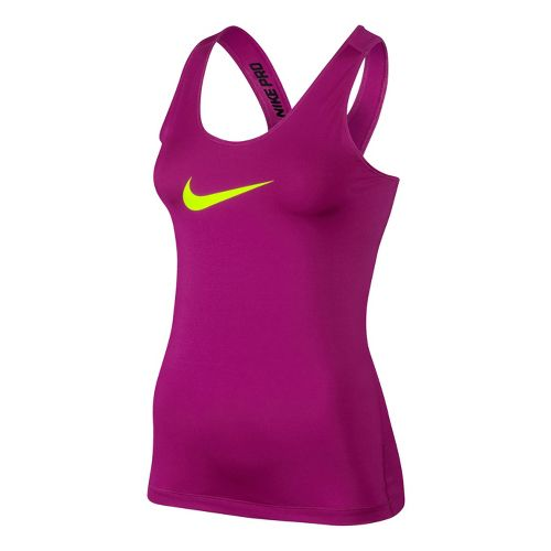 Womens Nike Pro Tank Technical Top - Magenta XL