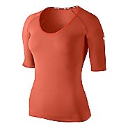 Womens Nike Pro Studio Short Sleeve Technical Tops