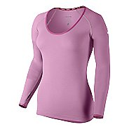 Womens Nike Pro Studio Long Sleeve No Zip Technical Tops