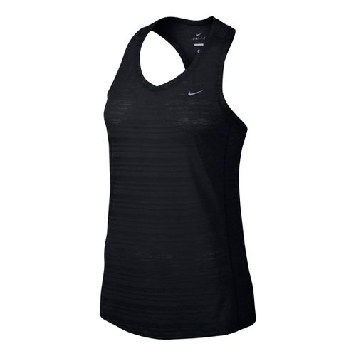 Womens Nike Breeze Tank Technical Tops - Black L