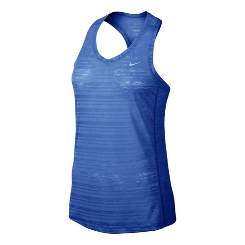 Womens Nike Breeze Tank Technical Tops - Cobalt L