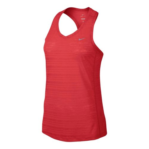 Womens Nike Breeze Tank Technical Tops - Chili Red L