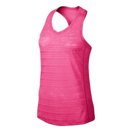 Womens Nike Breeze Tank Technical Tops - Hot Pink S