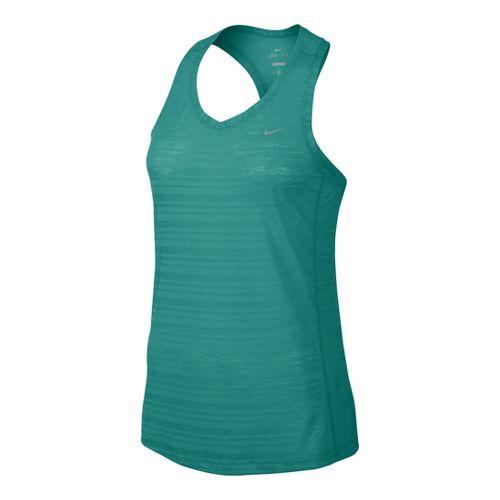 Womens Nike Breeze Tank Technical Tops - Sea Green L