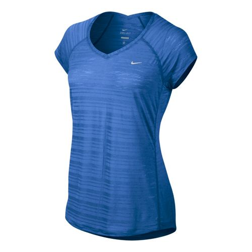 Womens Nike Breeze Short Sleeve Technical Tops - Cobalt XL