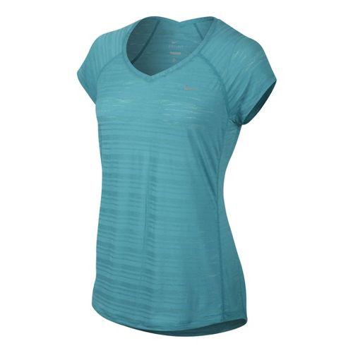 Womens Nike Breeze Short Sleeve Technical Tops - Sea Green S