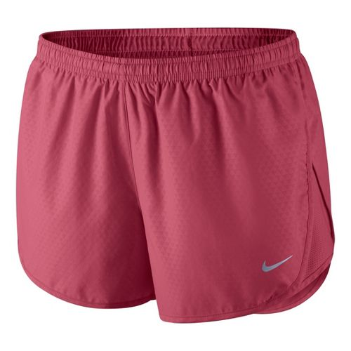 Womens Nike Mod Tempo Emboss Run Lined Shorts - Chili Red L