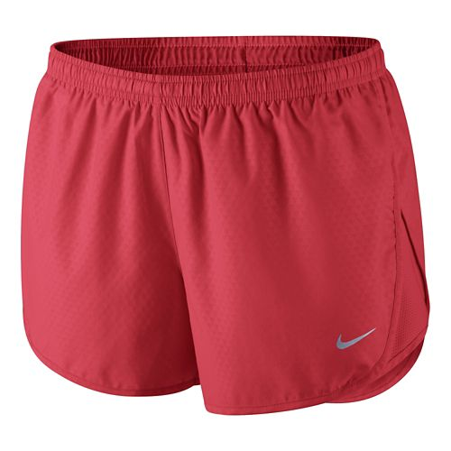 Womens Nike Mod Tempo Emboss Run Lined Shorts - Formula Red L