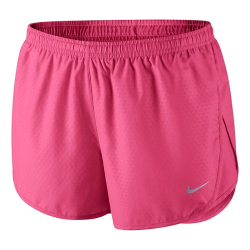 Womens Nike Mod Tempo Emboss Run Lined Shorts - Pink Shock M