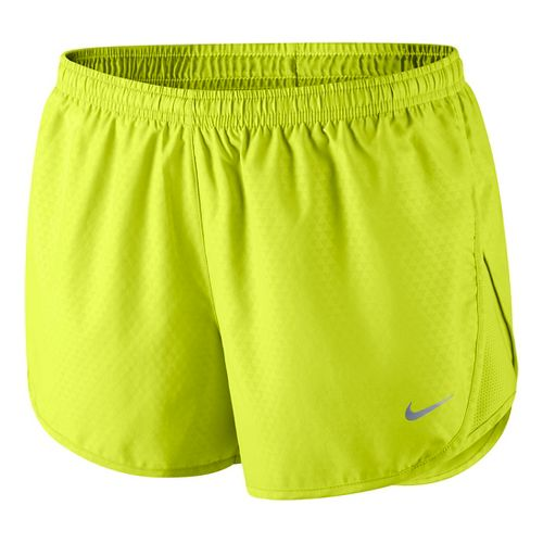 Womens Nike Mod Tempo Emboss Run Lined Shorts - Volt XL