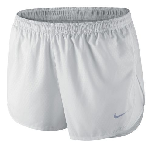 Womens Nike Mod Tempo Emboss Run Lined Shorts - White XL