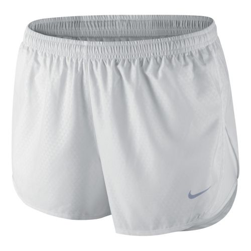 Womens Nike Mod Tempo Emboss Run Lined Shorts - White XS