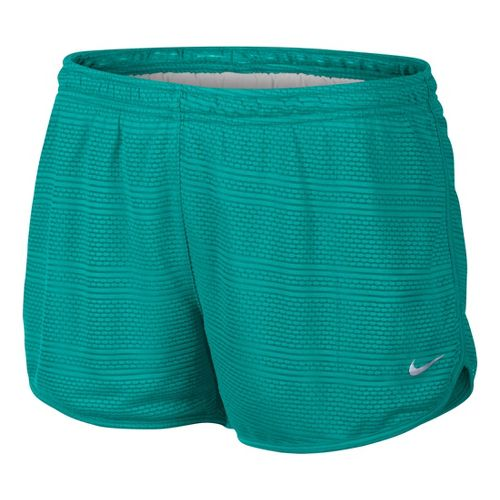Womens Nike Burnout Lined Shorts - Sea Green L