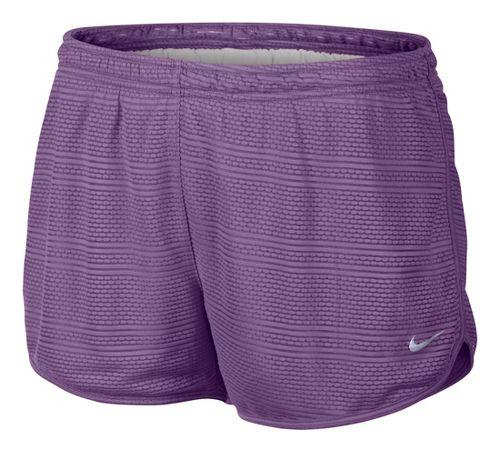 Womens Nike Burnout Lined Shorts - Violet XL