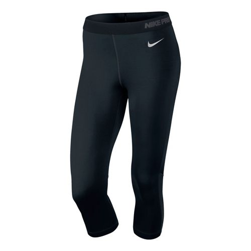 Womens Nike Pro Hypercool Capri Tights - Black L