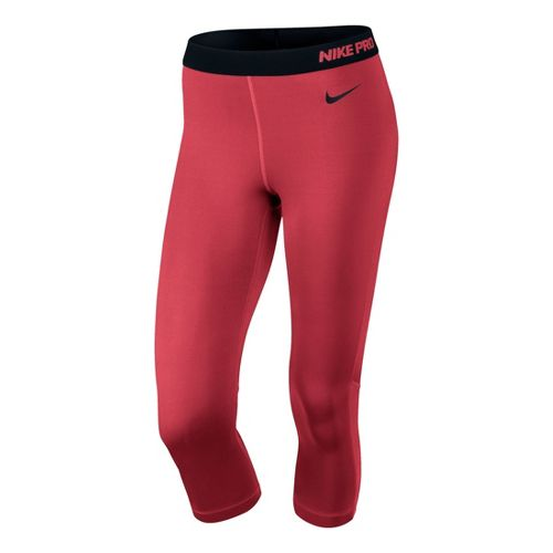 Womens Nike Pro Hypercool Capri Tights - Laser Red L