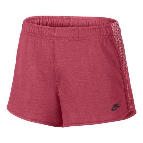 Womens Nike RU Sunset Unlined Shorts - Cherry M